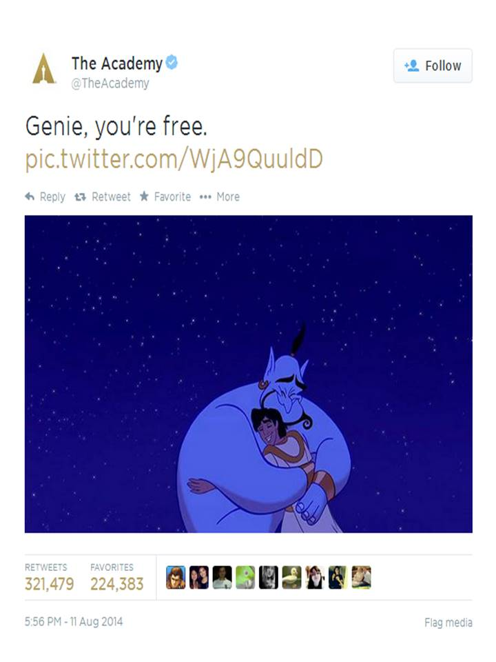 The Academy's Response to Robin Williams Death