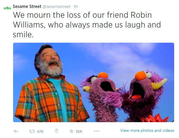 Robin Williams, Sesame Street