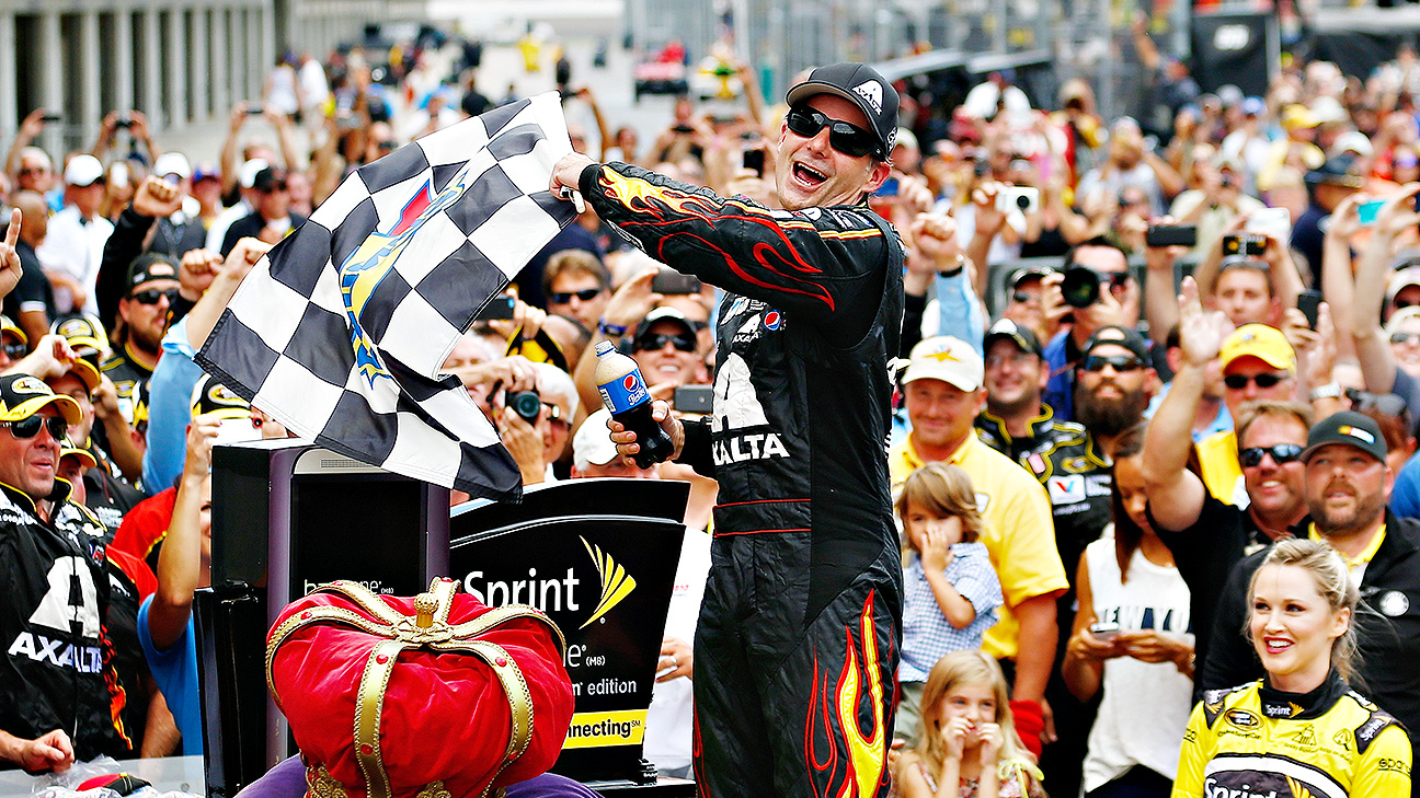 Gordon won a NASCAR-record fifth Brickyard 400 on Sunday, eight days before his 43rd birthday and on the weekend Indianapolis Motor Speedway
