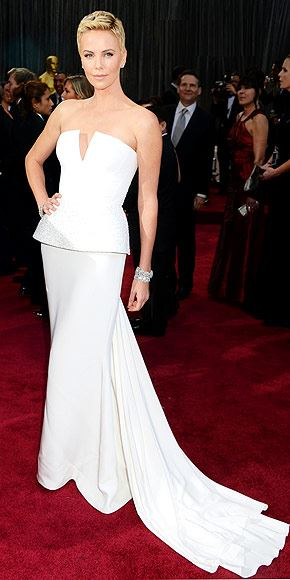 Charlize Theron just went through neck surgery to fix an issue with a broken vertebrae. Ouch. Best wishes!