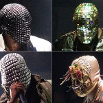 Who's the man behind these strange masks? It's Kanye West and he's totally wearing these on his Yeezus tour. I don't get it...