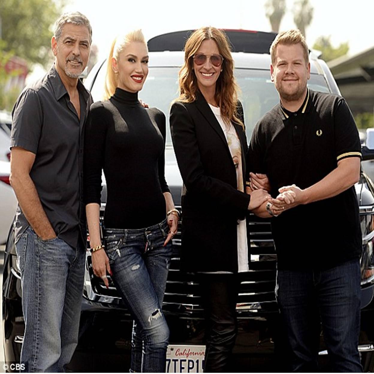 James Corden, George Clooney, Gwen Stefani, and Julia Roberts