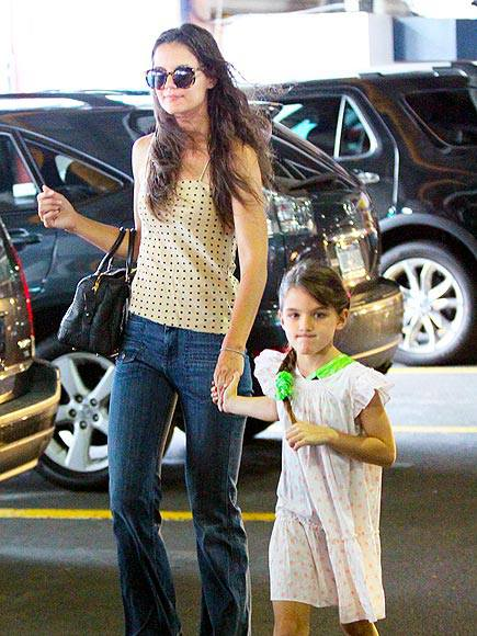 Katie Holmes and Suri Cruise spend time together in New York. Suri is already 7-years-old and looks so much like her mother!