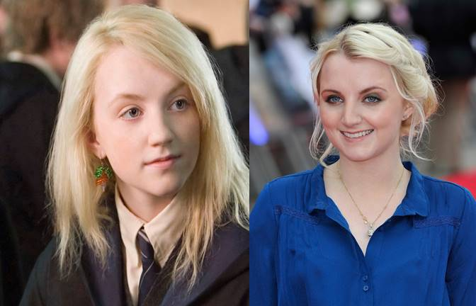 Luna Lovegood Then And Now Evanna has kept busy with her