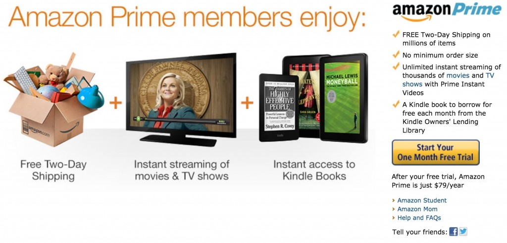 One million new Amazon prime members sign up in one week! Have you joined?