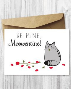 Adorable Cat-Themed Valentine's Day Cards
