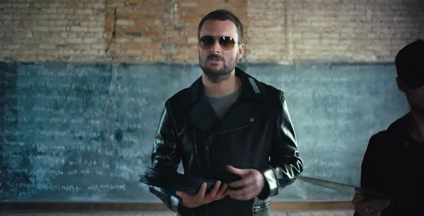 "Watch Eric Church's music video for ""Record Year"" currently #11 on the Country Music charts . . ."