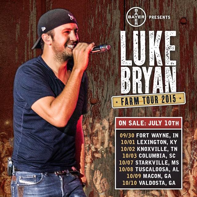 Luke Bryan Farm Tour Fort Wayne Indiana