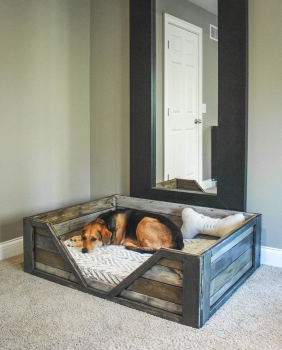 Diy Pallet Dog Beds Dog Fancast
