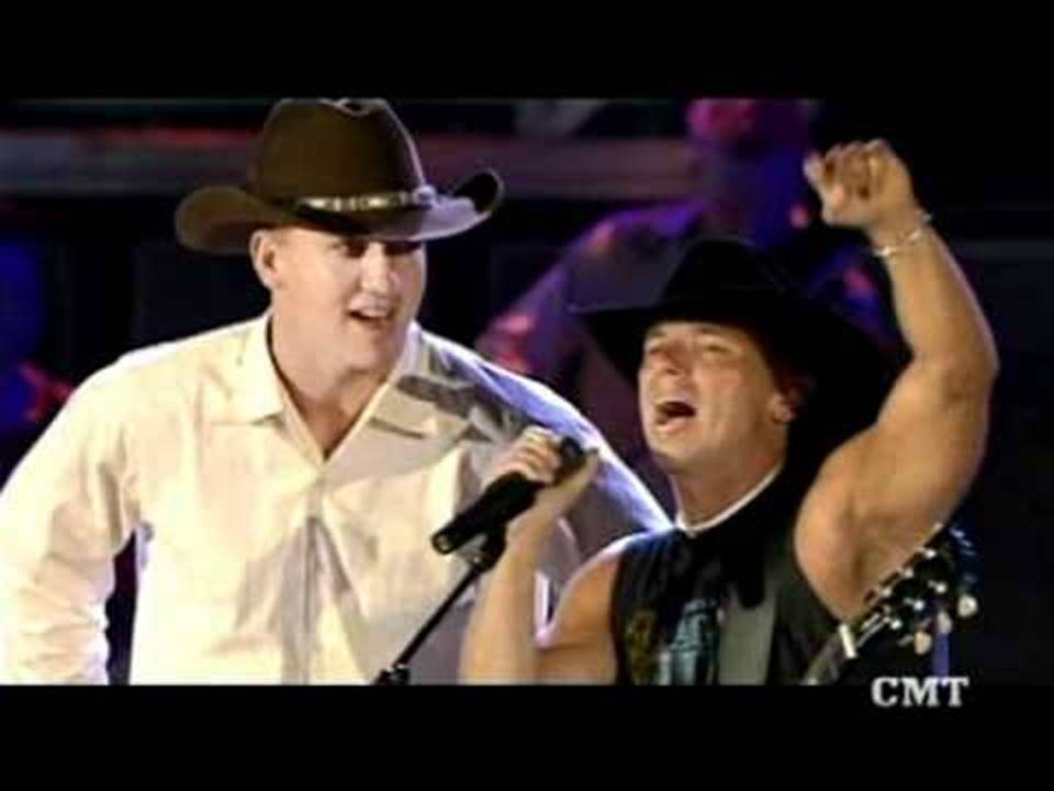 Peyton Manning and kenny chesney
