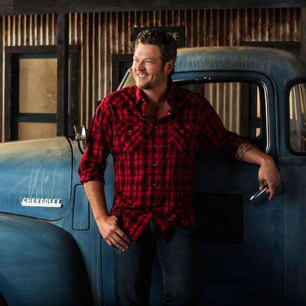 Blake Shelton and Truck