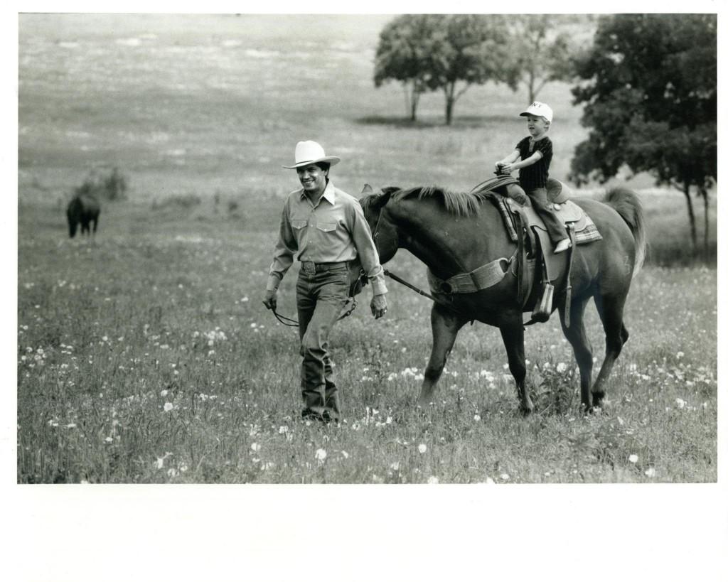 george strait with son