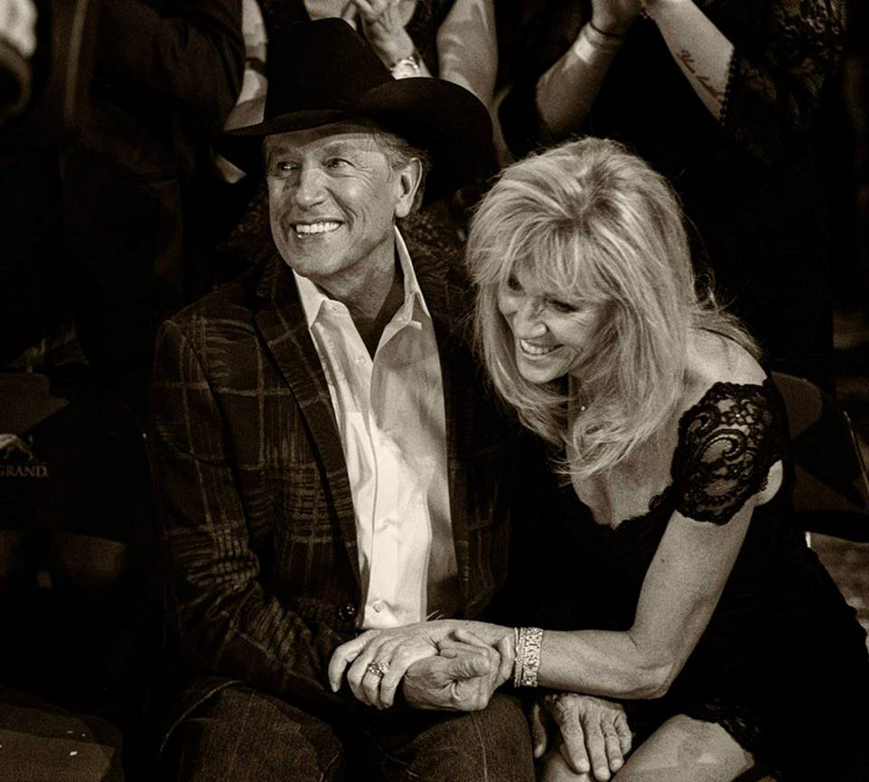 George Strait and wife Norma Strait