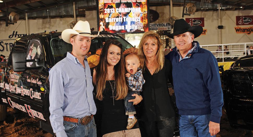 George Strait family