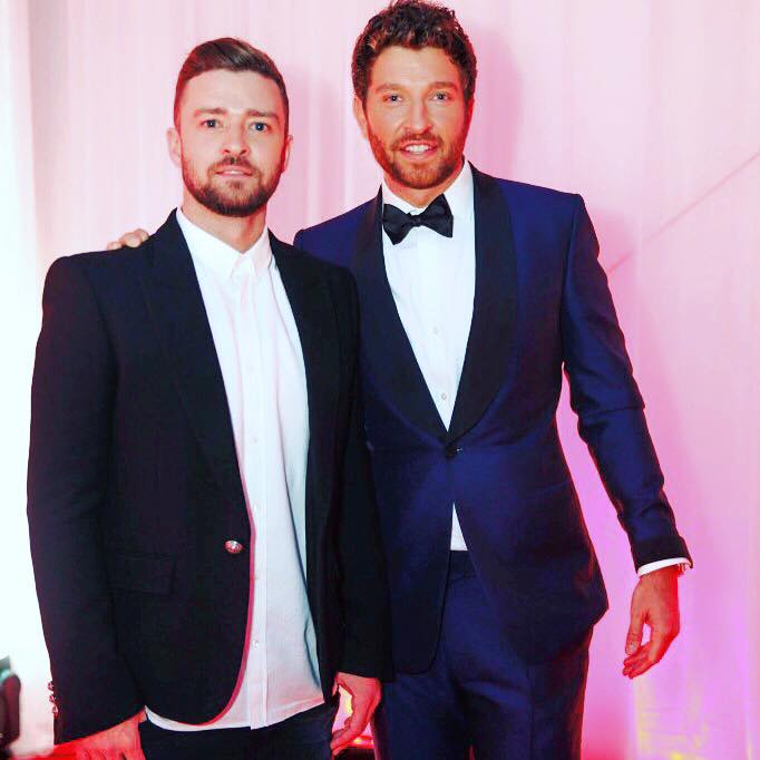 Brett Eldredge with Justin Timberlake