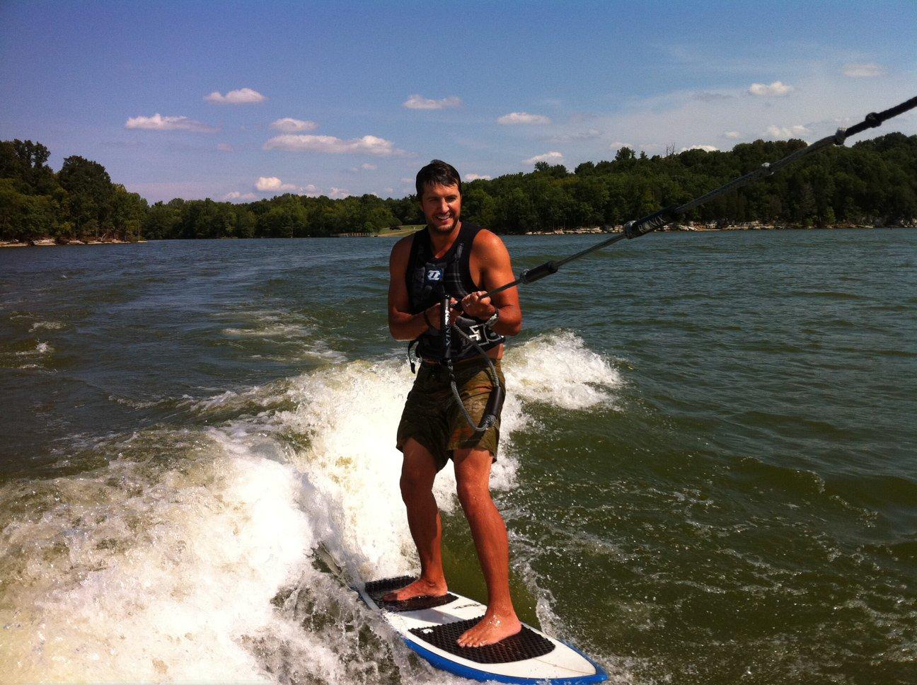 Luke Bryan water sports