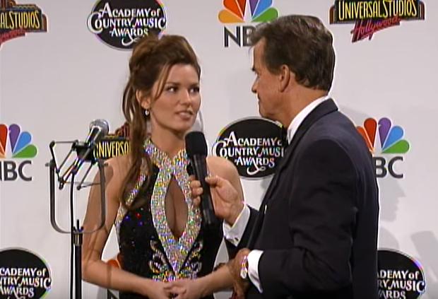 Dick Clark and Shania Twain