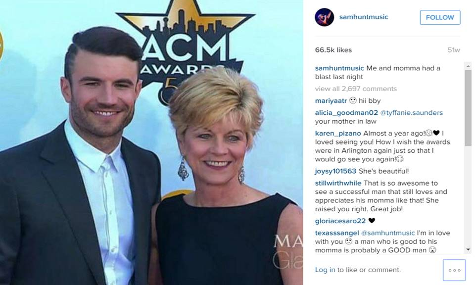 sam hunt with mother