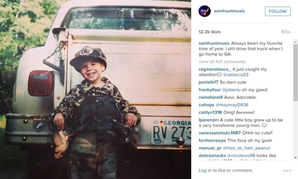 sam hunt as a child