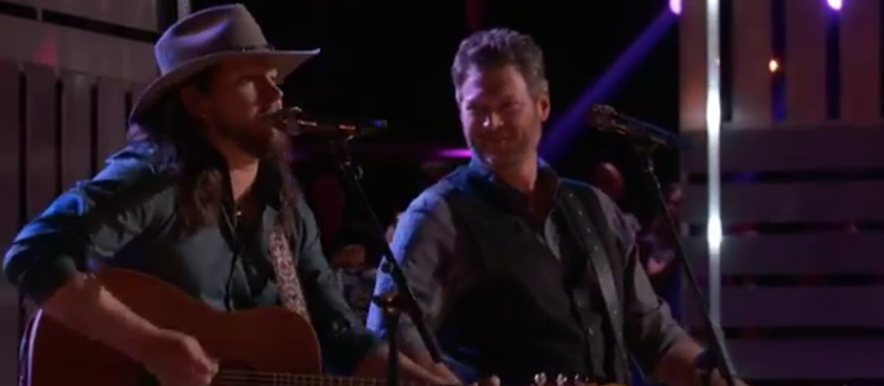 Blake Shelton and Adam Wakefield