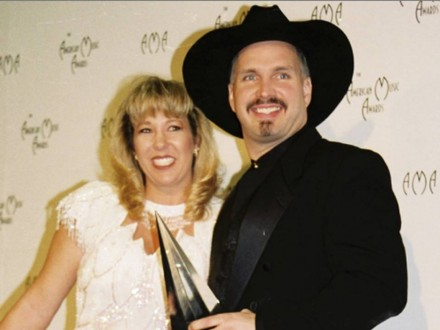garth brooks with ex-wife sandy mahl