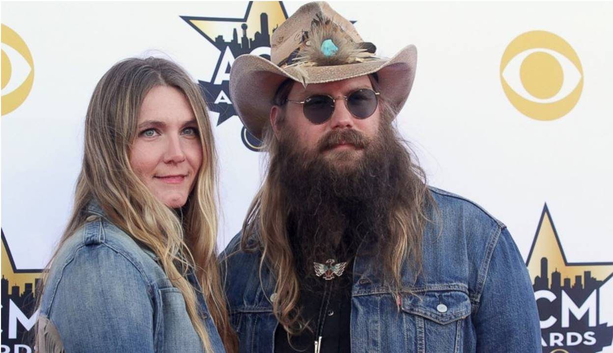 chris stapleton with wife morgane