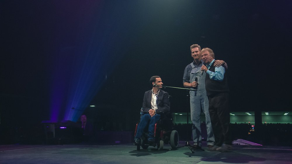 Bradley Walker with Rory feek and Bill Gaither