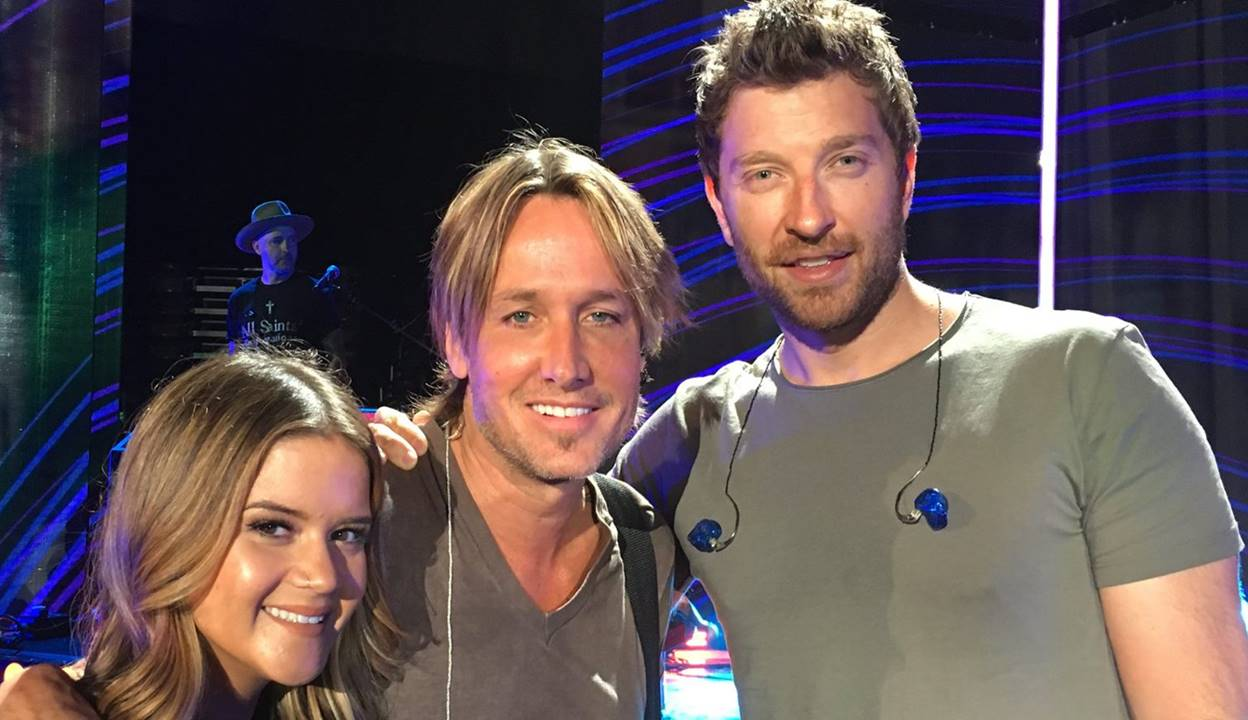 keith urban with maren morris and brett elderedge at cmt awards 2016