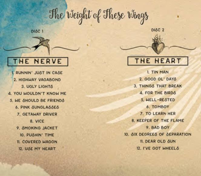the weight of these wings track list