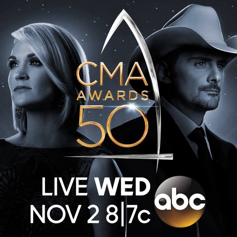 brad paisley carrie underwood cma awards 2016
