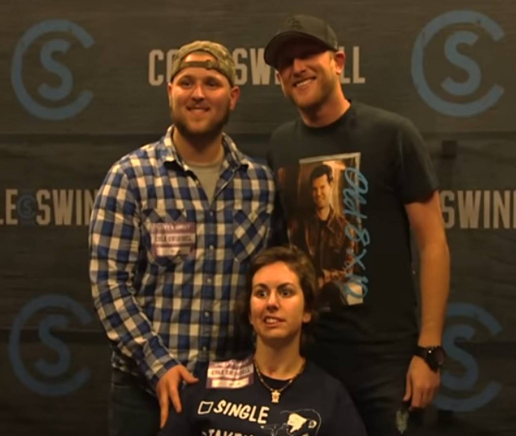 cole swindell with Chelsea Hogue
