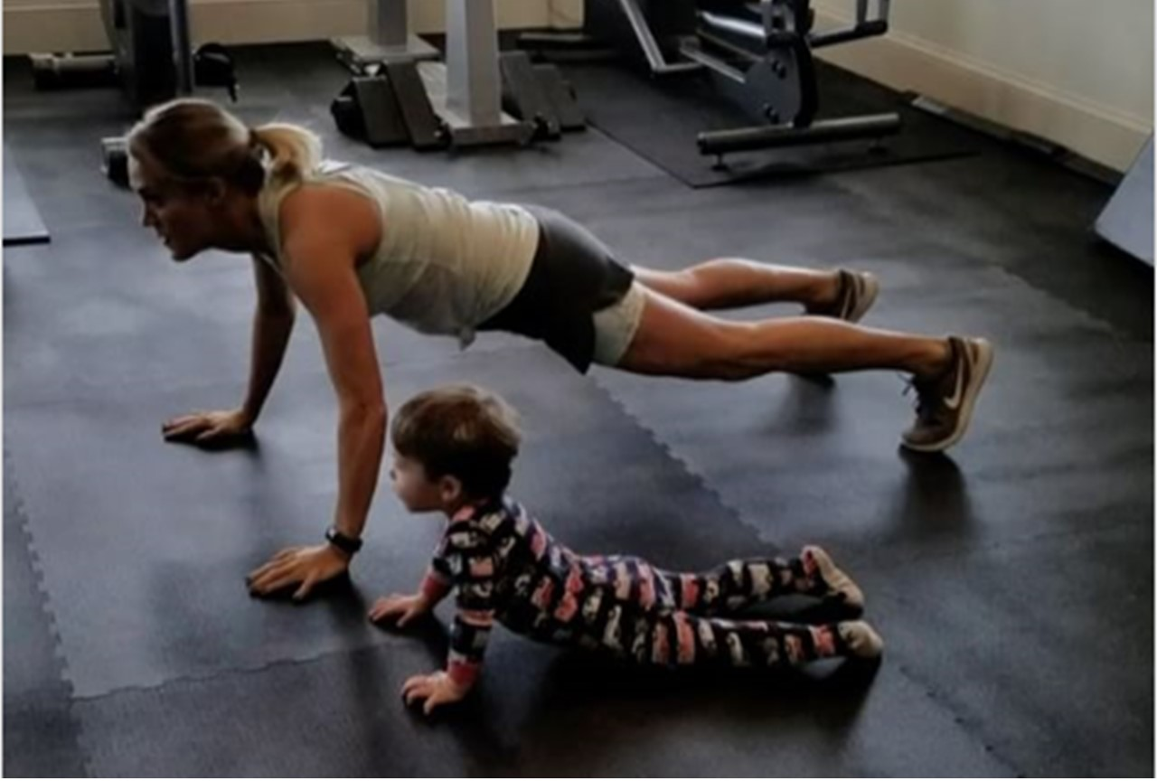 Watch carrie underwood and son isaiah excercise together for How many kids does carrie underwood have