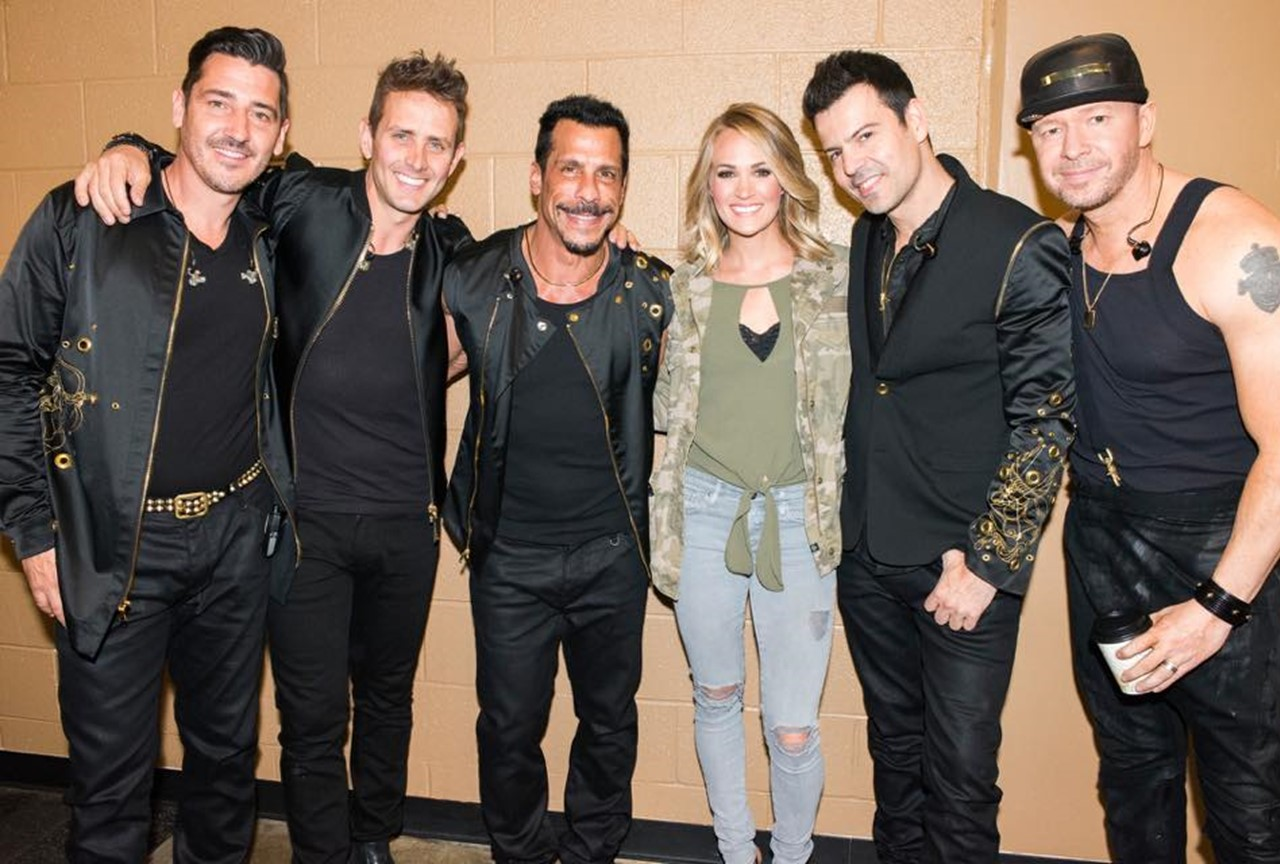 Fangirl alert: Carrie Underwood loses it over New Kids on the Block