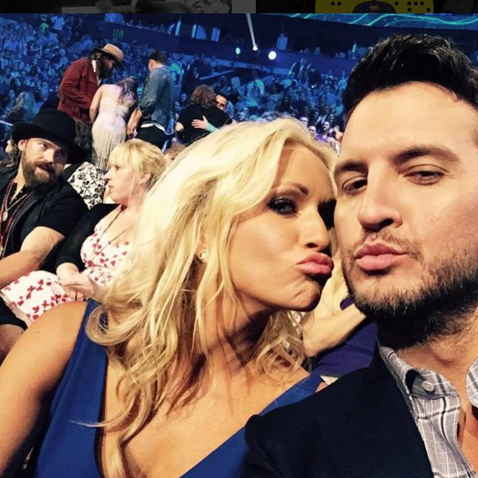 Luke Bryan and wife Caroline Boyer Bryan