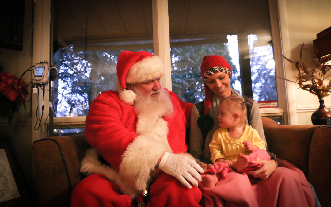 Joey Feek, Indiana Feek, and Santa Claus