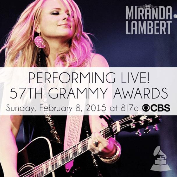 Miranda Lambert to Perform at the 2015 Grammys