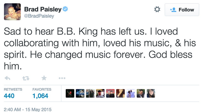 Brad Paisley Twitter