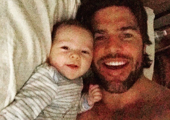 Mike Fisher and Baby Isaiah