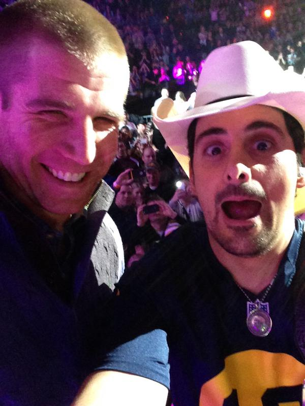 Brad Paisley and Jordy Nelson