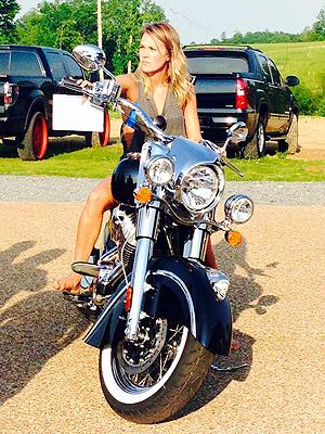 carrie underwood with miranda lambert motorcycle