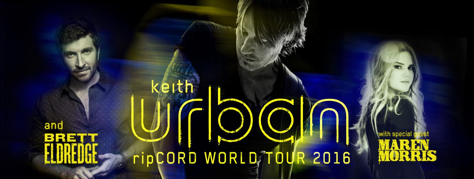 RipCord Tour Header, Keith Urban, Maren Morris, Brett Brett Eldredge