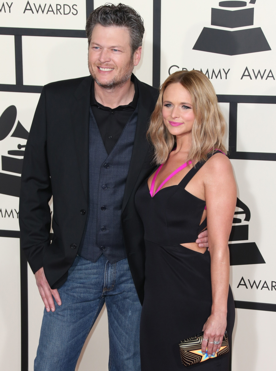 The 57th Annual GRAMMY Awards Featuring: Blake Shelton, Miranda Lambert Where: Los Angeles, California, United States When: 09 Feb 2015 Credit: FayesVision/WENN.com