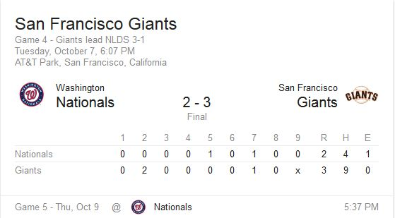 The Giants Win the NLDS!