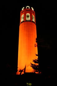 Coit Tower celebrates #OrangeOctober