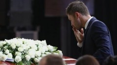 "During the 80-minute funeral service for Phillip Hughes, Michael Clarke said: ""Phillip's spirit, which is now part of our game forever, will"