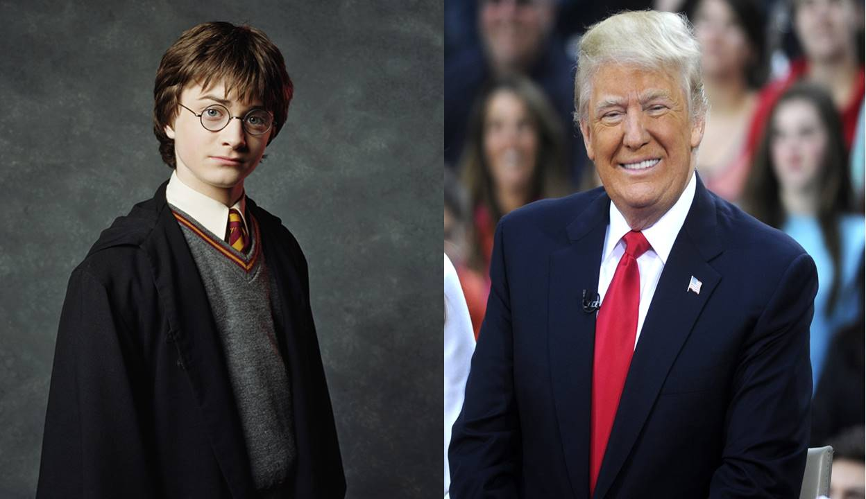 Donald J. Trump had something to say to Harry Potter…