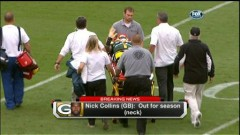 We all hope Nick Collins has a quick recovery.