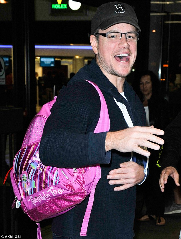 Matt Damon is Manly Enough to Wear Pink and Sparkles