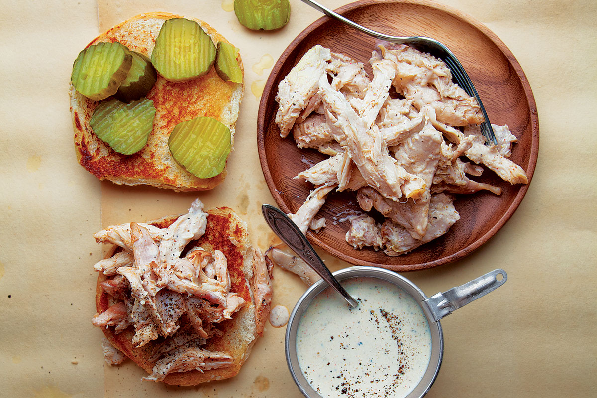 Lear how to make a delicious Alabama-style chicken sandwich…..
