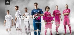 Real Madrid finally officially unveiled their long-rumored pink 2014-2015 away kits for next season on Monday night.  Read more and Image